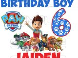 Paw Patrol Birthday Iron On Transfers Paw Patrol Birthday Boy Iron On Transfer Digital
