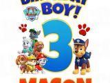 Paw Patrol Birthday Iron On Transfers Paw Patrol Iron On Transfer Birthday Boy Luvibeekidsco