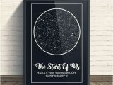 Personalized Night Sky Poster Custom Star Map Night Sky Print Star Map Poster Wedding