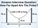 Picture Hanging Height Calculator Can You solve Amazon S Hanging Cable Interview Question Youtube