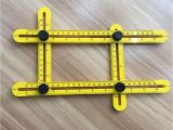 Picture Of Measuring tools with Name Yellow Measuring Instrument Angle Square Template tool Four Sided