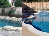 Pictures Of Blue Surf Pebble Sheen Pebble Sheen Blue Surf before and after Gardner