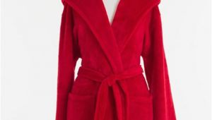 Pine Cone Hill Robes Pine Cone Hill Selke Fleece Red Hooded Robe Ships Free
