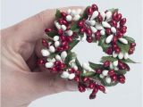 Pip Berry Taper Candle Rings Red and White Pip Berry Candle Ring Pip Berries