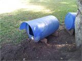 Plastic Barrel Dog House Let Me See Your Plastic Barrel Dog House