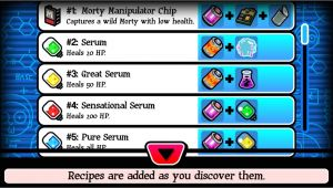 Pocket Mortys Crafting Recipe List Pocket Mortys Crafting Recipes Guide Clashin Com