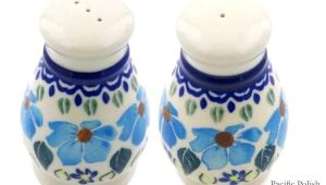 Polish Pottery Salt and Pepper Grinders Polish Pottery Salt and Pepper Shakers Polish Pottery Salt