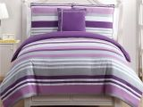 Polyester Comforter Vs Cotton Comforter Shop Vcny Ava Purple Stripe Reversible 4 Piece Cotton Comforter Set