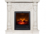 Polyfiber Electric Fireplace with 41 Mantle Wildon Home Rupert Faux Stone Corner Convertible