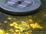Pond Boss solar Floating Pond Aerator Pond Boss solar Floating Pond Aerator Youtube