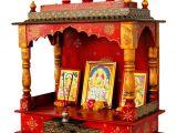 Pooja Mandir for Home In Usa Home Temple Puja Mandir Hand Painted Lattu Mandir without Door