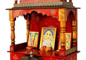 Pooja Mandir for Home In Usa Home Temple Puja Mandir Hand Painted Lattu Mandir without Door