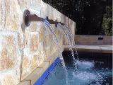 Pool Scuppers and Spouts Private Residence Pool Back Wall W Spouts Contemporary