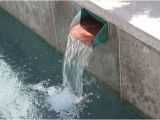 Pool Scuppers and Spouts Swimming Pool Wall with Copper Scupper Water Features In