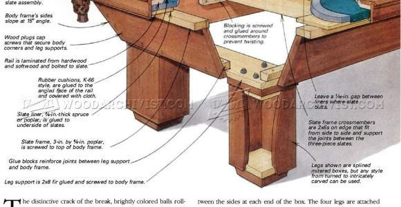 Pool Table Movers Las Vegas Build Pool Table Woodworking Plans and Projects Woodarchivist