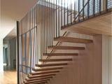 Prefab Metal Stairs Residential Bluffview Residence Stair Tensioned Steel White Oak Via