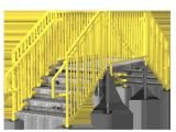 Prefab Metal Stairs Residential Portable Stairs Double Stairs Erectastep