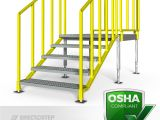 Prefab Metal Stairs Residential Portable Stairs Left Entry Erectastep