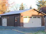 Prefab One Car Garage with Loft attic Car Garage with Loft Space 2 Car Garage