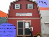 Prefab Single Car Garage Kits 2 Floor Shed House for Debt Free Living with Plenty Of Space Under