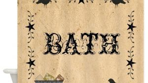 Primitive Bathroom Shower Curtains Primitive Bath Shower Curtain by Mousefx