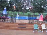 Privacy Fence Ideas for Above Ground Pools Our Above Ground Pool with 3 Decks Above Ground Pool Decks Pool