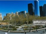 Public Park In Manhattan High Angle View Of A Public Park In A City Battery Park