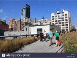 Public Park In Manhattan On An Old Railway High Line Park New York Stock Photos High Line Park New York Stock