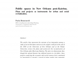 Public Storage New orleans East Pdf Public Spaces In New orleans Postkatrina Plans and Projects as
