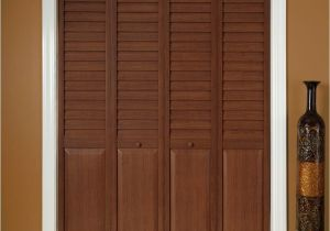 Puertas De Madera Para Closet Home Depot Home Fashion Technologies 18 In X 80 In 3 In Louver Panel Dark