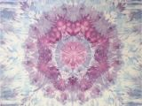 Purple and Grey Tapestry Mandala Tie Dye Tapestry In Purple Blue and Grey Wall Hanging