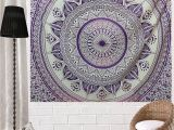 Purple and Grey Tapestry Pink and Purple Hippie Tapestries Boho Home Decor Mandala