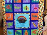 Quilt Fabric Stores Tulsa Ok Noah S Ark Quilt for the Kindergarten Class Auction Project Each