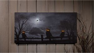 Radiance Flickering Light Canvas Halloween Owl O Ween Night Radiance Lighted Canvas Halloween X46568