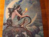 Radiance Flickering Light Canvas Mermaid Mermaid Flicker Flame Starfish Light Crescent Moon