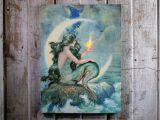 Radiance Flickering Light Canvas Mermaid Mermaid with Flickering Light Radiance Lighted Canvas Wall