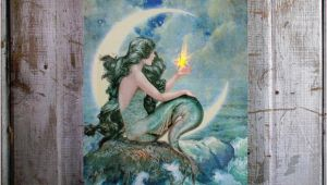Radiance Flickering Light Canvas Mermaid Mermaid with Flickering Light Radiance Lighted Canvas Wall