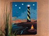 Radiance Flickering Light Canvas with Timer Hatteras Lighthouse W Flickering Lights Radiance Lighted