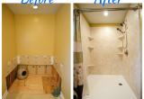 Re Bath before after Pictures Complete Bathroom Remodel Tub to Shower Conversion Walk In