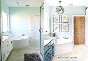 Re Bath before after Pictures Industrial Rustic Master Bath Retreat Maison De Pax
