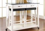Real Simple Rolling Kitchen island In White 36.5 50 Best Rolling Kitchen island with Seating
