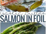 Recetas De Salmon Faciles Al Horno Garlic butter Baked Salmon In Foil Receta Comida Recetas Y Mariscos