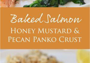 Recetas De Salmon Faciles Baked Salmon with Honey Mustard and Pecan Panko Crust Receta