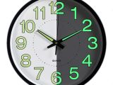 Replacement Battery Operated Clock Works Night Light Clock Foxtop 12 Inch Silent Non Ticking Large Wall