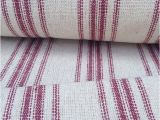 Reproduction Feedsack Fabric by the Yard Grain Sack Fabric sold by the Yard Red Stripes Vintage