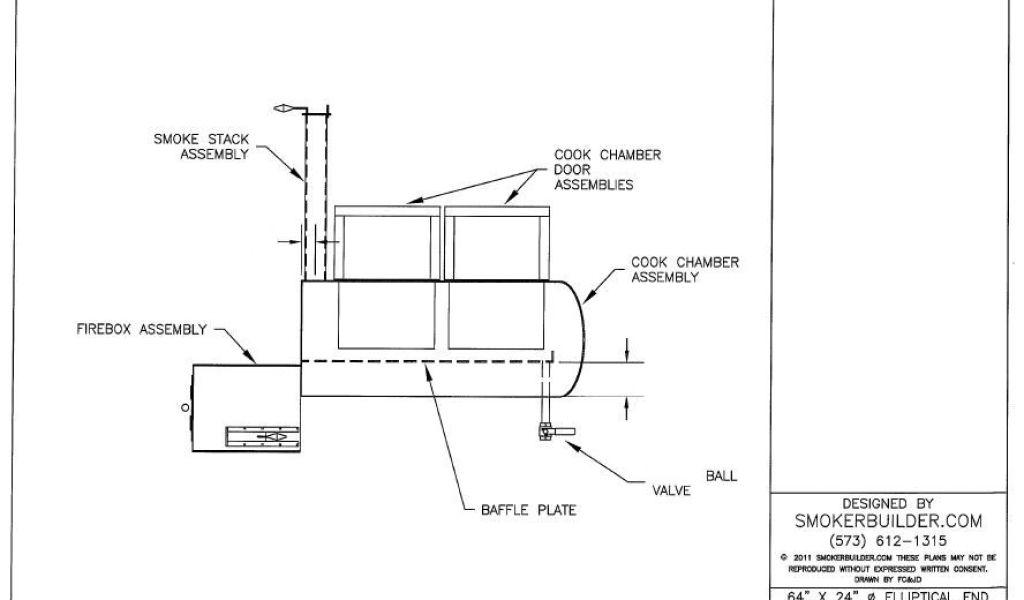 Reverse Flow Offset Smoker Plans Diy Vertical Brick Smoker with