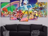 Rick and Morty 5 Piece Canvas Modern Printing Type Poster Canvas Painting Hd 5 Panel