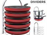 Round as A Dishpan Deep as A Tub Amazon Com Lifewit Adjustable Pan Pot organizer Rack for 8 9 10 11