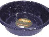 Round as A Dishpan New Columbian F6414 6 Blue Granite Dish Pan 10 Quart