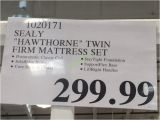 Sealy Hawthorne Mattress Review Costco 1020171 Sealy Hawthorne Twin Firm Mattress Set Tag